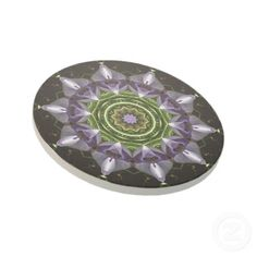 Purple Flower Beverage Coaster... i need these