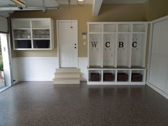 Could do this cubby idea in the bsmt too!