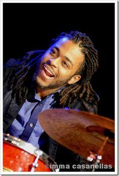 Young drummer Johnathan Barber, Nova Jazz Cava, Terrassa, March 17, 2012