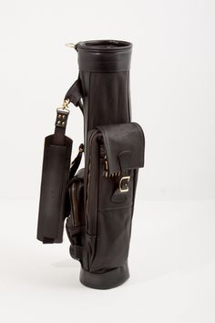 Premium Leather Airliner Style Golf Bag