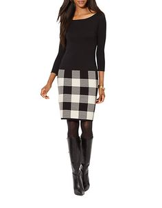Ralph Lauren Cotton Sweater Dress | Lord and Taylor