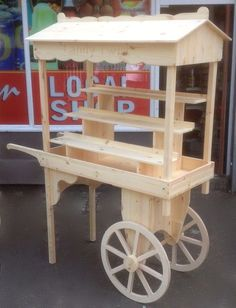 market barrow car boot sales display wedding candy cart school fete event stall in Business, Office & Industrial, Retail & Shop Fitting, Retail Display Market Displays, Craft Show Displays, Craft Stall Display, Market Stall Display, Display Ideas, Vendor Cart, Bar Deco, Wooden Cart, Sweet Carts