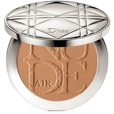 Dior Diorskin Nude Air Tan Powder Healthy Glow Sun Powder with Kabuki... (€53) ❤ liked on Polyvore featuring beauty products, makeup, face makeup, face powder, golden honey and christian dior