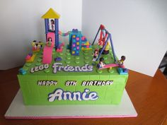 Lego Friends park cake