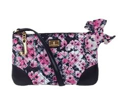 Juicy Couture Malibu Nylon Flat Crossbody, Black / Pink Floral List Price: $118.00 Our Price: $65.00 Savings: $53.00