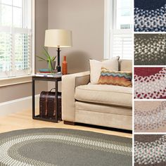Add a cozy, homey accent to your home decor with this traditional braided cabin rug. With five exciting color combinations to choose from, this oval, border-style rug is reminiscent of a cottage, which makes it ideal for country and casual decors.
