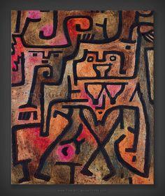 From Fondation Beyeler, Paul Klee, Wald-Hexen (Forest Witches) Oil on paper on burlap, 99 × 74 cm August Macke, Wassily Kandinsky, Klimt, Paul Klee Art, Google Art Project, Art Brut, Paul Cezanne, Art Abstrait, Art Plastique