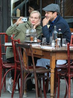Diane Kruger and Joshua Jackson: proof even celebs can look ridiculous taking selfies. See 90 more examples.