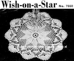 Wish on a Star  	  Doilies  Book No. 201  The Spool Cotton Company  1943