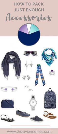 How to Pack Just Enough Accessories in a travel capsule wardrobe