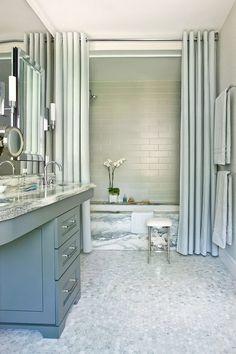 Duschdraperi i badrum är underskattat – här är 13 lyckade bevis - Sköna hem