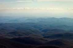 view from grandfather mountain in linville, north carolina