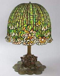 1906 Tiffany Pond Lily lamp, one of eight left in the world, most are in museums or private collections.