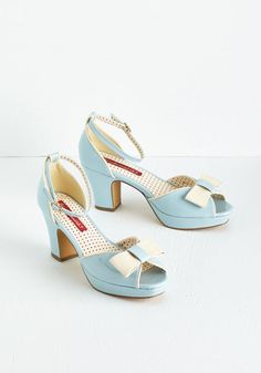 Bowed and Boating Heel in Sky $69.99 AT vintagedancer.com