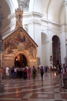 August 2nd is the Pardon of Assisi. Here are pilgrims at the Portiuncula