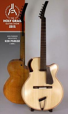 Exhibitor at the Holy Grail Guitar Show 2015: Ken Parker, Ken Parker Archtops, USA. http://www.kenparkerarcrtops.com, https://www.facebook.com/profile.php?id=100006140476306&fref=ts, http://holygrailguitarshow.com/exhibitors/ken-parker/