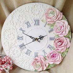 1 million+ Stunning Free Images to Use Anywhere Diy Clock, Clock Decor, Clay Wall Art, Clay Art, Cold Porcelain Flowers, Handmade Clocks, Diy Shadow Box, Homemade Art, Sculpture Painting