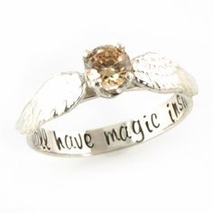 Charming Harry Potter Golden Snitch Engagement Ring   Spiffing Jewelry