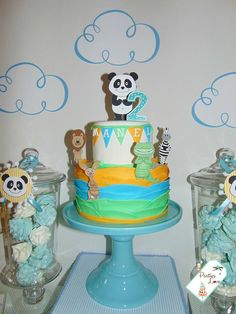 Panda Party, Baby L, Snow Globes, Party Things, Birthday, Cake, Desserts, Decor, Pastries
