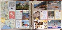 Italy RoadTrip - Day 1 by amylard at Studio Calico Scrapbook Travel Album, Project Life Scrapbook, Project Life Layouts, Scrapbook Cards, Picture Scrapbook, Project Life Travel, Collages, Photographs And Memories, Pocket Scrapbooking