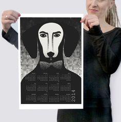 2014 Wall Calendar Art Print - Renka Grzybek