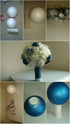 Wedding Bouquets Diy Navy 27 Ideas - New Site Boquette Wedding, Wedding Crafts, Wedding Styles, Wedding Decorations, Wedding Ideas, Wedding Blue, Bling Wedding, Trendy Wedding, Wedding Centerpieces