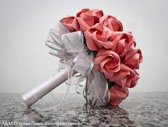 Rosas kawasaki sempre maravilhosas #origami #bouquet