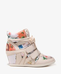 forever 21 floral wedge