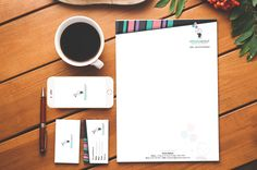 Corporate stationary designs for a speech pathology business