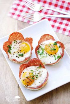 Salami Breakfast Cups