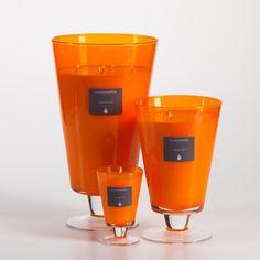 Illuminaria Vase Candle Jar - Orange #candles #scentedcandles #homefragrance #illuminaria #home #homedecor #orange #frangipani http://www.carlyleavenue.com/collections/whats-new/products/illuminaria-vase-candle-jar-orange