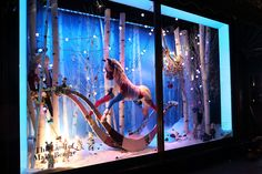 The Best Holiday Windows Displays of 2014 - Department Store Holiday Windows - Elle Christmas Shop Displays, Christmas Window Display, Window Display Design, Store Window Displays, Christmas Windows, Harrods Christmas, Christmas Store, Noel Christmas, Xmas