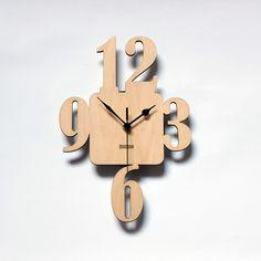 Unique Wooden Wall Clock 3-6-9