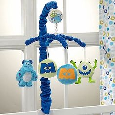 Disney Monsters at Play Musical Mobile Multi-colored 8371079 085214099545 for sale online Disney Baby Rooms, Disney Baby Clothes, Disney Nursery, Baby Boy Rooms, Baby Boy Nurseries, Baby Disney, Disney Junior, Baby Bedroom, Monsters Inc Nursery