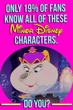 Disney Quiz: Take this fun, challenging quiz to put your Disney knowledge to the test and see if you know all of these minor characters! Disney Quiz, Buzzfeed quizzes, Playbuzz quiz, Disney minor characters, Disney trivia, Mrs. Potts. Are you a TRUE Disney fanatic? Prove it!