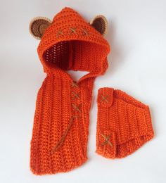 Ewok Baby Hood And Diaper Cover Costume Set From Star Wars For Newborn Photo Prop Baby Halloween Wig / Cosplay Wig - Star Wars Ewok - Ideas of Star Wars Ewok - Star Wars Halloween, Halloween Wigs, Baby Halloween, Halloween Cosplay, Halloween Fashion, Crochet Baby Clothes, Crochet Baby Hats, Baby Knitting, Crochet Gloves
