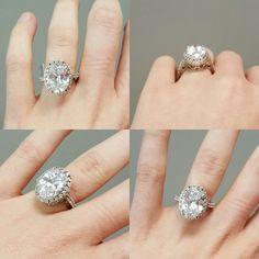 #Pickerington #CZ #SterlingSilver #EngagementRing #ForSale #ComeSeeUs #BuckeyeGold