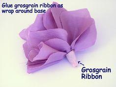 Ruby Mines: DIY Tutorial: Nina Ricci Inspired Flower Sash
