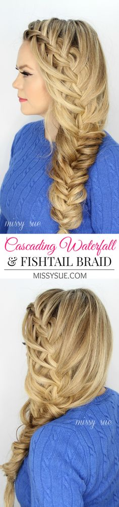 Cascading Waterfall Fishtail Braid