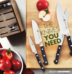Parer, chef, Santoku, shears — what every kitchen needs for every meal.