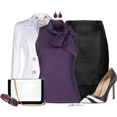 """""""Purple, Black & White for The Office"""""""