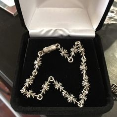 Auth chrome hearts bracelet Classic cut chrome hearts bracelet only wearing one time Chrome Hearts Jewelry Bracelets