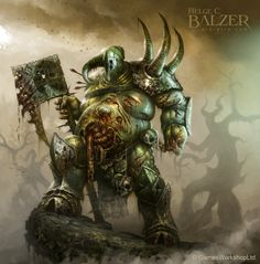Warhammer - Nurgle Lord of Chaos - (c) Games Works by helgecbalzer on DeviantArt