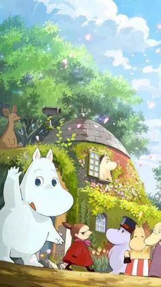 【其他】爱分享 小清新 治愈系卡通 - 姆明moomin wallpaper