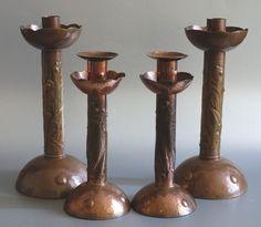 Copper candlesticks