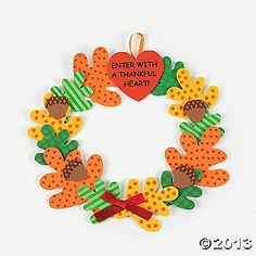 """Enter With A Thankful Heart"" Wreath Craft Kit - we could definitely do this with the Cricut!"