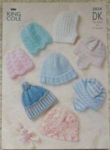 Babies Hats DK Knitting Pattern