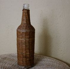 Vintage wicker-wrapped bottle. (Story and photo by Cheryl-Anne Millsap)