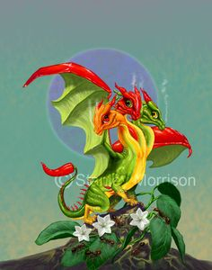 Peppers Dragon Print by Stanley Morrison Magical Creatures, Fantasy Creatures, Fantasy Kunst, Fantasy Art, Dragon Series, Dragon's Lair, Dragon Print, Dragon Pictures, Cute Dragons