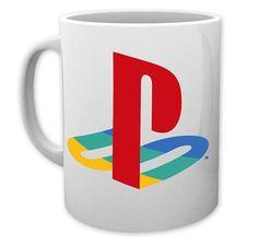 Sony Tasse Playstation 1 Logo. Hier bei www.closeup.de